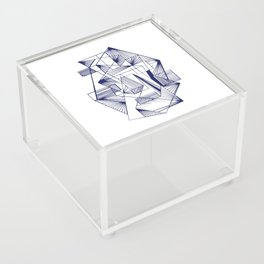 Polygon collections - blue triangle Acrylic Box