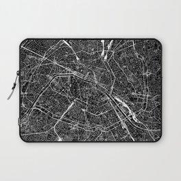 Paris Black Map Laptop Sleeve