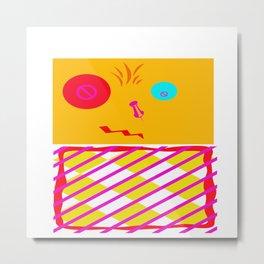 Mustard Dachi Metal Print
