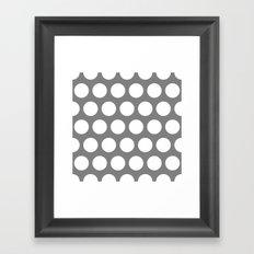 Big polka dots on gray Framed Art Print
