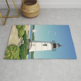 Martha's Vineyard Edgartown Lighthouse Rug