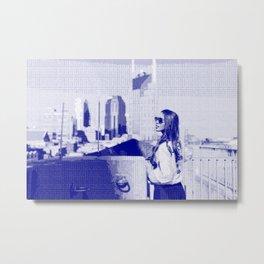 City Girl — Pseudo Risograph Metal Print