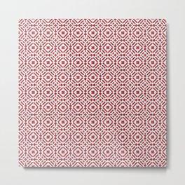 Bold colors for modern patterns - Geometric Tiles Metal Print