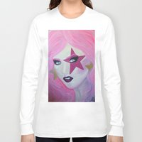 jem Long Sleeve T-shirts featuring Jem Star by Clare Chapman