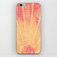 hemingway iPhone & iPod Skins featuring The Sun Also Rises (Peach Wash) by Tami Goemilar