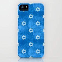 Hanukkah Holidays Star of David Pattern iPhone Case