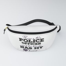 Policeman with police dog and blue light Fanny Pack