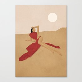 Warm Dune Sand Canvas Print