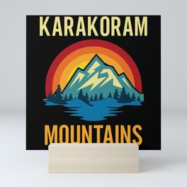Karakoram Mountains Sunset Mini Art Print