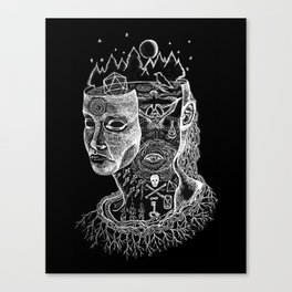 Secrets of Your Skull Canvas Print