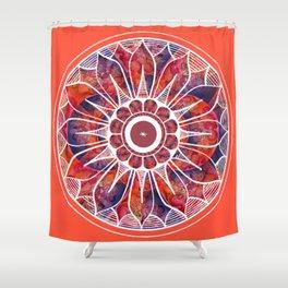 White Flowerdrum Shower Curtain
