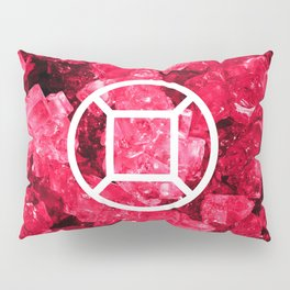 Ruby Candy Gem Pillow Sham