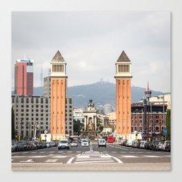 Venetian Towers (square) Canvas Print