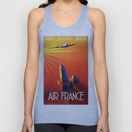 France To Africa Unisex Tank Top