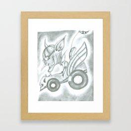 Goblin Driving Framed Art Print