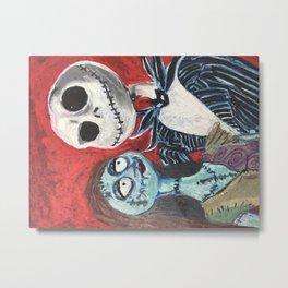 Jack and Sally Metal Print