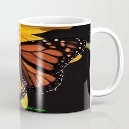 Monarch on a Desert Sunflower Coffee Mug