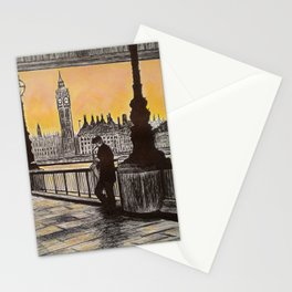 Saxophone Player, London South Bank Stationery Cards