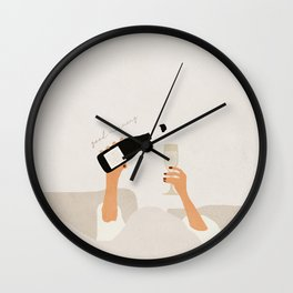 Good morning mid century art Wall Clock