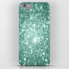 Seafoam Blue Glitter Slim Case iPhone 6 Plus
