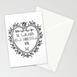 Sic gorgiamus allos subiectatos nunc Stationery Cards