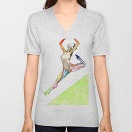 The Ceiling, Female ballet dancer, NYC artist Unisex V-Neck