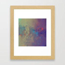 Industral Abstract, Cooling and Burning Metal Framed Art Print