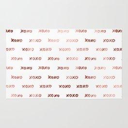 XOXO Fashion Love Rose Gold Pattern 3 Rug