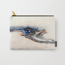 Simple Blue Fluid Flow Abstract Carry-All Pouch