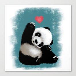 Panda Love (Color) Canvas Print