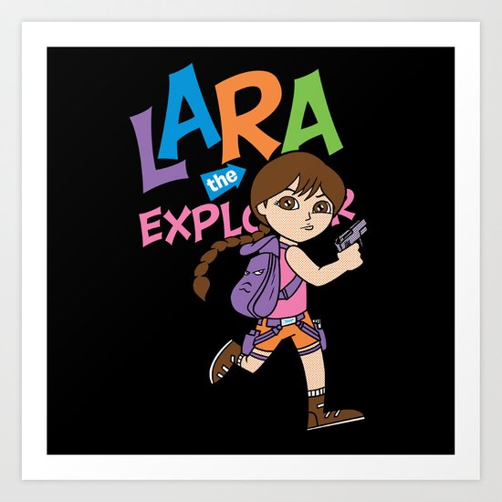 Lara the Explorer Art Print