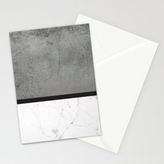 Black Marble Concrete Fusion Stationery Cards