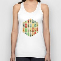 racing Tank Tops featuring Car Park by Cassia Beck