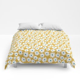 Daisies - Spring - Yellow Comforters