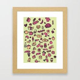 Cravings in Honeydew Framed Art Print