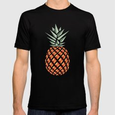 Pineapple  Black Mens Fitted Tee LARGE