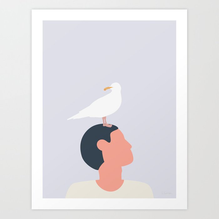 MÅGEFUGLE Art Print