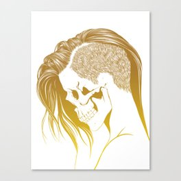 Skull Girls 2 - Royal Gold Canvas Print
