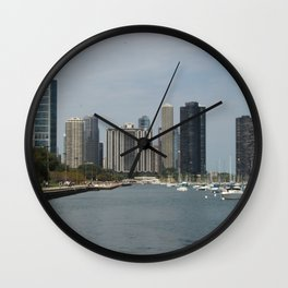 Chicago Shoreline, Skyline, Lake Michigan Wall Clock