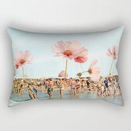 Vintage Flower Beach Rectangular Pillow