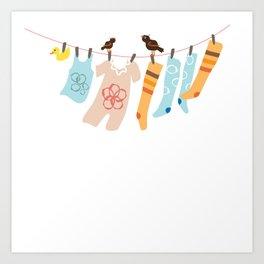Clothes Line Art Print