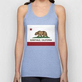 Sunnyvale California Republic Flag  Unisex Tank Top