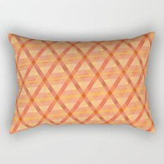 Woven Orange Rectangular Pillow