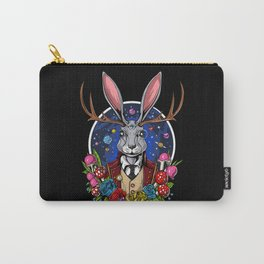 Psychedelic Jackalope Shrooms Rabbit Carry-All Pouch