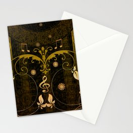 Music, clef and key notes Stationery Cards
