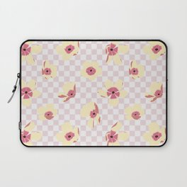 Butterfly Ranunculus on Checkerboard Laptop Sleeve