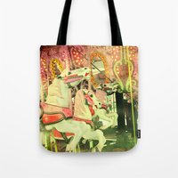 carousel Tote Bags featuring Carousel by elle moss