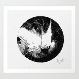 Can you see the cat? Art Print
