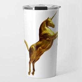 Gold Unicorn Travel Mug