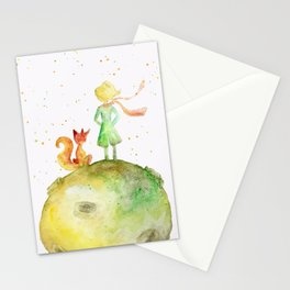 Little Prince and Fox Stationery Cards